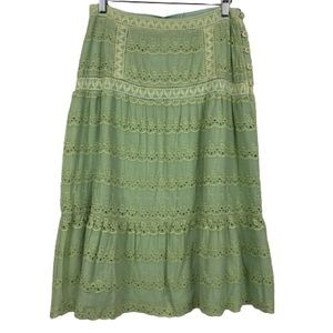 NWT April Cornell Reversible Prairie Midi Skirt